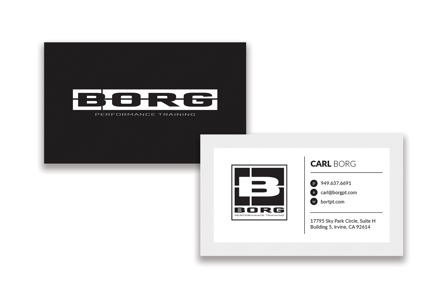 BORG Performance Training | Business Cards